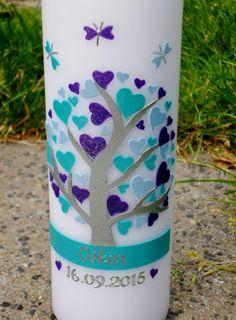 Taufkerzen - Taufkerze-Lebensbaum- - ein Designerstück von GVK-Shop bei DaWanda
