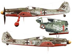 Artwork Focke Wulf Fw 190D9 JV44 Red 1