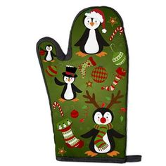 new at @CafePress : #Oven #Mitt Cute colorful #christmas #Pinguins, socks and stars! The Background is green and decorated with snowflakes! Artwork by http://www.etsy.com/de/people/Prettygrafik and Cherryclipart  $13.79