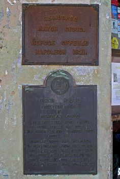 Napoleon House Information Plaque by stormdog42, via Flickr