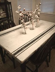 Cool 30+ Rustic Farmhouse Table Ideas To Use In The Decor #refurbishedtable Paint Furniture, Furniture Makeover, Painted Furniture French, Dresser Makeovers, Furniture Refinishing, Rustic Farmhouse Table, Farmhouse Windows, Farmhouse Ideas, Country Farmhouse