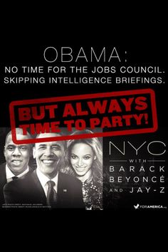 Obama doesn't want to be President. He doesn't want to do the work but issue orders & party.