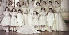 Grace Kelly's Wedding Gown and attendees...