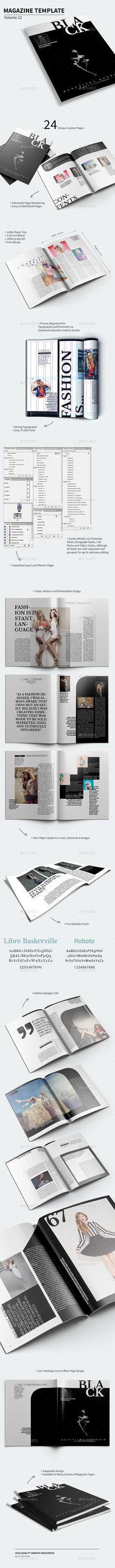 Magazine Template  Volume 12 — InDesign INDD #booklet #letter • Available here → https://graphicriver.net/item/magazine-template-volume-12/14503826?ref=pxcr