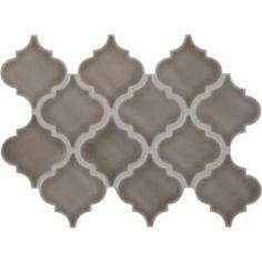 MS International, Dove Gray Arabesque 10-1/2 in. x 15-1/2 in. x 8 mm Glazed Porcelain Mesh-Mounted Mosaic Wall Tile (11.3 sq. ft. / case), PT-DG-ARABESQ at The Home Depot - Mobile