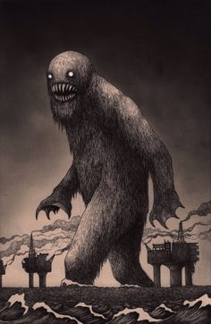 John Kenn - Post-it Illustration - Monsters