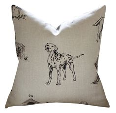 Mulberry Kennel Club Pillow Cover in Natural - Pink and Piper