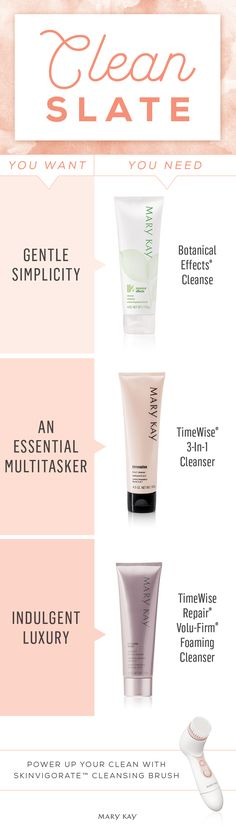 Don't sweat your skin care this summer! Whether you prefer a gentle cleanser or something a little more indulgent, we have options for you. Click to find your match! | Mary Kay