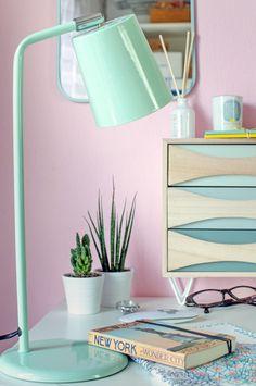 [beinhaltet werbung] Maisons du Monde   Interior Trend Spring 2017   Mint #wohnidee #myhome #homeoffice #lampe #mintandlemon #pastell #pastel #kaktus #cactus #desk #schreibgtischh #office #pinkswalls #interieur #interior #interiorblogger