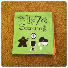 The 7 Sacraments quiet book Catholic babies toddlers, $16