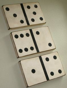 Make dominoes for your walls Tutorial and 45 BEST Charming Lifestyle DIY & Tutorials EVER.  From MrsPollyRogers.com