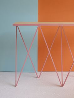 Giraffe console table in pink #andnewfurniture www.andnew.co.uk