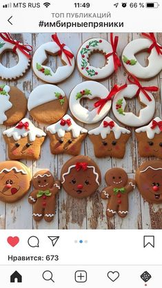 56 Ideas Cupcakes Versieren Ideas Royal Icing For 2019 Cute Christmas Cookies, Easy Christmas Cookie Recipes, Christmas Biscuits, Xmas Food, Iced Cookies, Christmas Sweets, Christmas Gingerbread, Christmas Cooking, Royal Icing Cookies