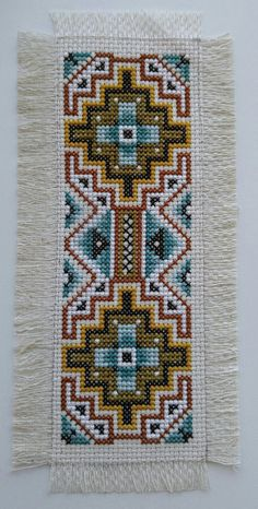 "crossmystitch: """"Crossing Paths Bookmark"" found in Joan Elliott's Native American Inspired Cross Stitch. """