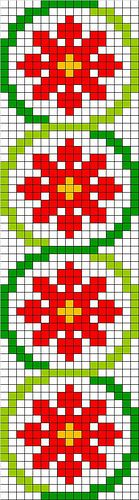 Cross stitch embroidery - could be adapted to weaving? Cross Stitch Bookmarks, Cross Stitch Borders, Cross Stitch Flowers, Cross Stitching, Cross Stitch Embroidery, Cross Stitch Patterns, Bead Loom Patterns, Beading Patterns, Graph Paper Art