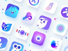Colorful and Simple App icon | Jasonlol | Design, UI/UX, Web