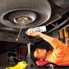 Loosen and lubricate a corroded spare tire lift so you can get to your spare tire when you need it.