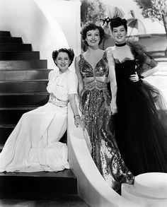 Norma Shearer, Joan Crawford and Rosalind Russell in The Women wearing Joseff Hollywood Jewelry Hollywood Fashion, Vintage Hollywood, Hollywood Stars, Old Hollywood Style, Hooray For Hollywood, Old Hollywood Glamour, Golden Age Of Hollywood, Vintage Glamour, Classic Hollywood
