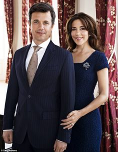 Happy couple: Crown Prince Frederik of Denmark met Australian Miss Mary Donaldson in a pub in Sydney during the 2000 Olympic Games and the pair married four years later