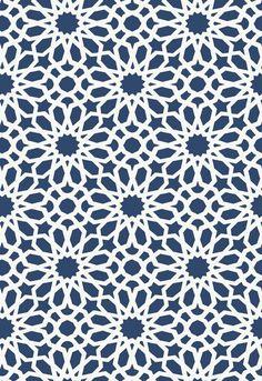 Schumacher Agadir Screen Wallpaper Roll floral pattern has a dazzling kaleidoscopic effect. Geometric Patterns, Textile Patterns, Print Patterns, Islamic Art Pattern, Arabic Pattern, Pattern Art, Pattern Design, Chart Design, Wallpaper Roll