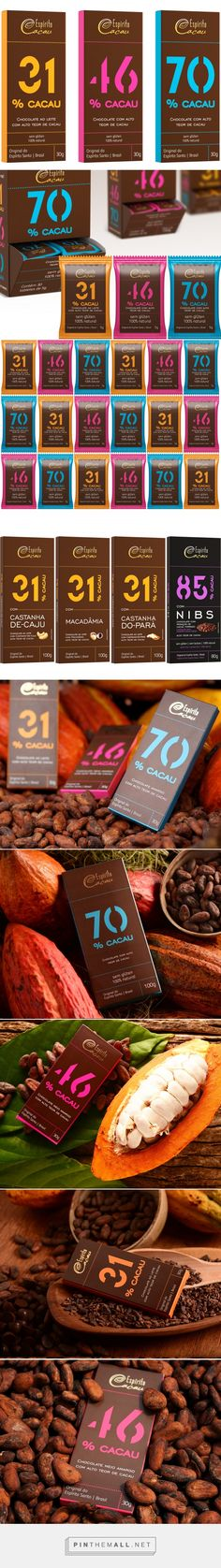 Espírito Cacau Chocolate - Packaging of the World - Creative Package Design Gallery - http://www.packagingoftheworld.com/2017/05/espirito-cacau-chocolate.html