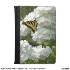 Butterfly on White Phlox Floral Photo Kindle Case