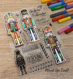 Nutcracker Kisses Stamp Set, For the Love of Stamps Stepper Cards, Christmas Mix, Craft Tutorials, I Card, Christmas Cards, Projects, Crafts, Xmas Ideas, Kisses