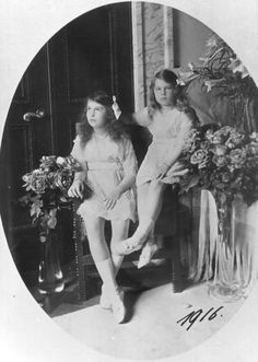 Victoria's daughters Maria and Kira.