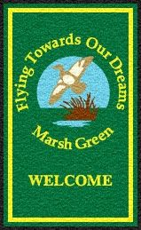 Marsh Green logo mat. Personalised door mat.