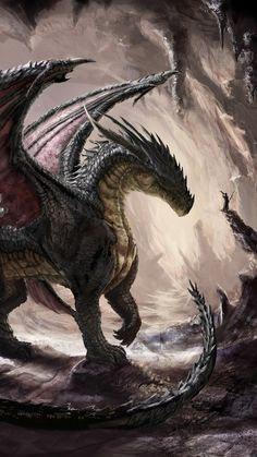 Epic Dragon Phone Wallpaper in 2020 Dragon wallpaper iphone Fantasy dragon Art