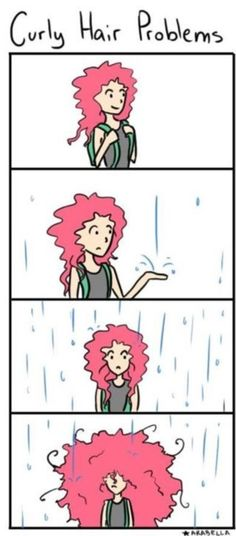 #Curly #hair problems #lol!  Stay dry today!