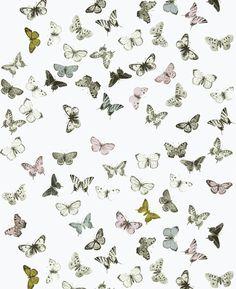 Tapet 38344: Butterfly White/Multi från Mimou - Tapetorama