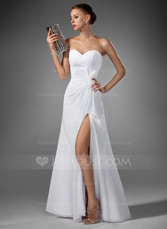- A-Line/Princess Sweetheart Floor-Length Chiffon Evening Dress With Ruffle Split Front (017022520) http://jjshouse.com/A-Line-Princess-Sweetheart-Floor-Length-Chiffon-Evening-Dress-With-Ruffle-Split-Front-017022520-g22520  Evening Dresses - $132.99