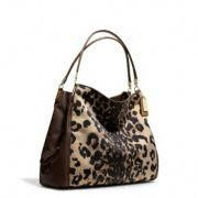 Coach :: Madison Phoebe Shoulder Bag In Ocelot Print Fabric. ABSOLUTELY LOVE THIS BAG...IT IS NOW IN MY CLOSET FOR MY SPECIAL FALL HANDBAG!