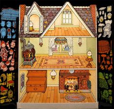 Holly Hobbie Magic glow Doll House in Colorforms!