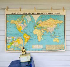 Vintage School Map -