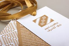 Logo, stationery and packaging with gold metallic spot colour detail designed by Mayuscula for textile producer Zeri Crafts. Identity Art, Brand Identity, Visual Identity, Creative Studio, Creative Design, African Logo, Textile Logo, Stationery Craft, Hang Tags
