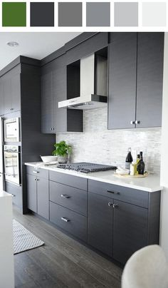 Kitchen color palette - amber black dark-cobalt-blue dark-vermilion