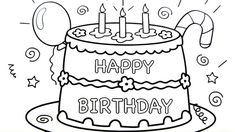 How to draw a cartoon cake drawing of birthday cake how to draw cartoon dra Bug Birthday Cakes, Image Birthday Cake, Birthday Crafts, Birthday Bash, Birthday Ideas, Birthday Parties, Online Coloring Pages, Coloring Pages To Print, Printable Coloring Pages