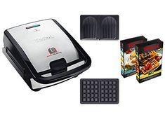 Tefal SW853D12 Snack Collection Machine à Gaufres et Croques Noir/Inox