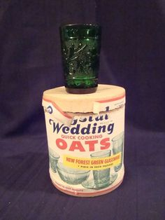 Rare Fire King Forest Green Sandwich Crystal Juice Glass & Wedding Oats Box mug Antique Dishes, Antique Glassware, Vintage Dishes, Vintage Kitchen, Vintage Fire King, Soap Boxes, Oldies But Goodies, Grandmothers, Anchor Hocking