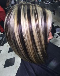 500 Best Chunky Streaks Lowlights 6 Images Haircolor Highlights