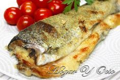 Trucha al horno con beicon y queso Sin Gluten, Queso, Carne, Favorite Recipes, Fish, Meat, Chicken, Bacon, Relleno