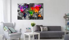 Obraz na korku - Symmetry of the World #mapart #domov #decor #korek #design #travel #pin #wall #cork #colorful
