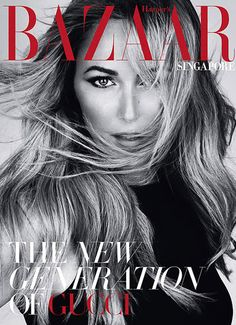 Mert & Marcus photograph Gucci's head designer Frida Giannini for Singapore issue of Harper's Bazaar, presenting the world of Gucci on 30 pages! Gucci, Boudoir Poses, Harpers Bazaar, Creative Director, How To Memorize Things, People, Photography, Inspiration, Beauty
