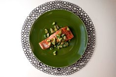 NYT Cooking: Sautéed Salmon With Brown Butter Cucumbers