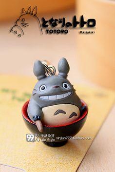 小碗龙猫 小挂件 手机绳 正品散货-淘宝网 Polymer Clay Handmade Totoro