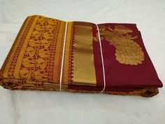 FB - pure kanchipuram silk sarees Indian Clothes, Indian Dresses, Indian Outfits, Indian Attire, Indian Wear, Indian Sarees, Silk Sarees, Wedding Sarees, Painted Chairs