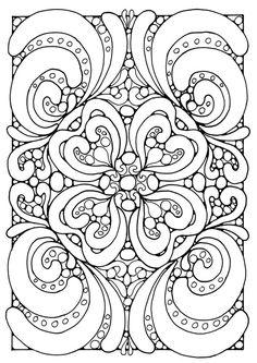 Coloring page mandala a04