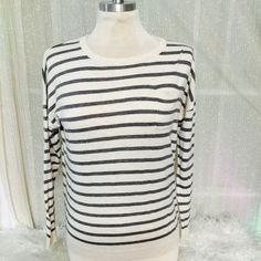 Hthr oatmeal mmhg Vanessa strp New with tags sold at Nordstrom 2015 Caslon Sweaters